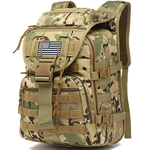 Camo Tactical Backpack for Men, Military Survival Army Backpacks for Camping Hiking Trekking