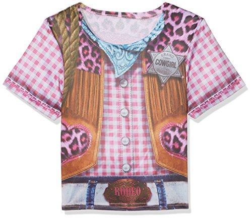 Rubie's 2630864M Cowgirl T-shirt Child, kostuum voor kinderen, M