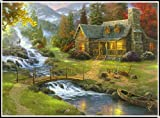 KYRRELY 5D Full Drill Diamond Painting Kit, 5D Diamond Painting Kit by Number Mountain Forest House Full Drill Diamond Painting Kit Home Wall Decor (Xiaoqiao, 30x40cm)