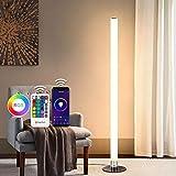 LED Stehlampe Dimmbar mit Fernbedienung, Oraymin 11W Wifi Smart Stehleuchte mit RGB Farben und 3000K Warmem Licht, Nachttischlampe von App-Steuerung, RGB Farbwechsel Modi und Zeitschaltuhrfunktion