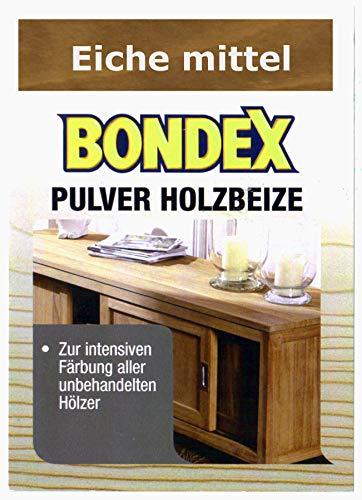 Bondex Holzbeize Pulverbeize Beutelbeize Beize auf Wasserbasis für Möbel 5er Pack - eiche mittel