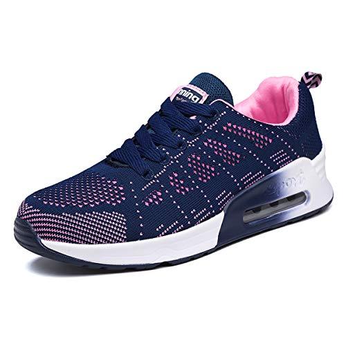 Lanivic Damen Turnschuhe Laufschuhe Atmungsaktive Sportschuhe Tennisschuhe Athletisch Fitnessschuhe Luftkissen Sneakers Blau 42