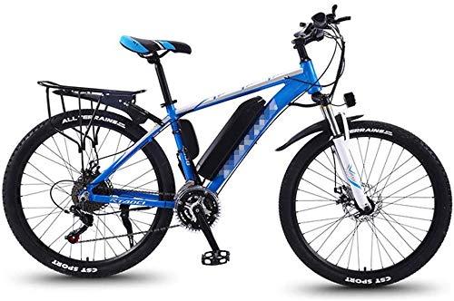 Alta velocidad Bicicletas de montaña eléctrica for adultos, 26 '' Fat Tire E-Bici MTB 27 Ebikes Hombres Mujeres, Todo Terreno conmuta el tren de rodaje deportivo de bicicletas de montaña completa 350W