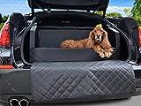 Travelmat PLUS Kofferraum Hundebett fürs Auto STANDARD Kunstleder Schwarz 110 x 90cm