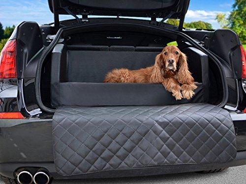 Travelmat PLUS Kofferraum Hundebett fürs Auto VISCO-Spezialschaumstoff Kunstleder Schwarz 90 x 70cm