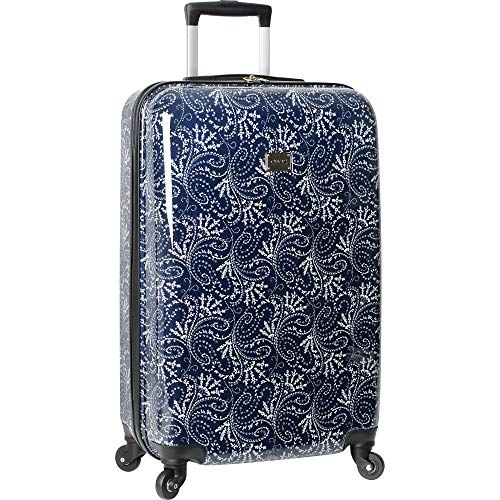 Chaps Hardside Spinner Luggage, Navy Spring Paisley