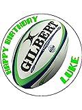 7.5Ballon de rugby glaçage comestible gâteau d'anniversaire