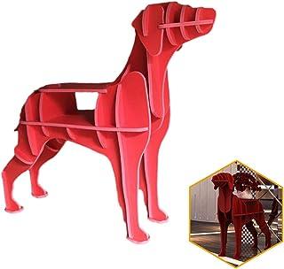 ORPERSIST Almacenamiento En Rack De Aterrizaje, Cachorro De Madera Modelado De Estantería, Bricolaje Montaje En Casa Muebles De Mesa De Café En Estantería, Rojo (S/M / L),S