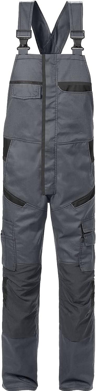 Fristads Workwear 129486 Mens Bib'n'Brace Grey-Black C148