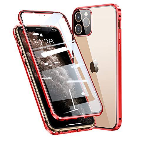 FHZXHY Carcasa de cristal para iPhone 12 Pro Max, transparente, de doble...
