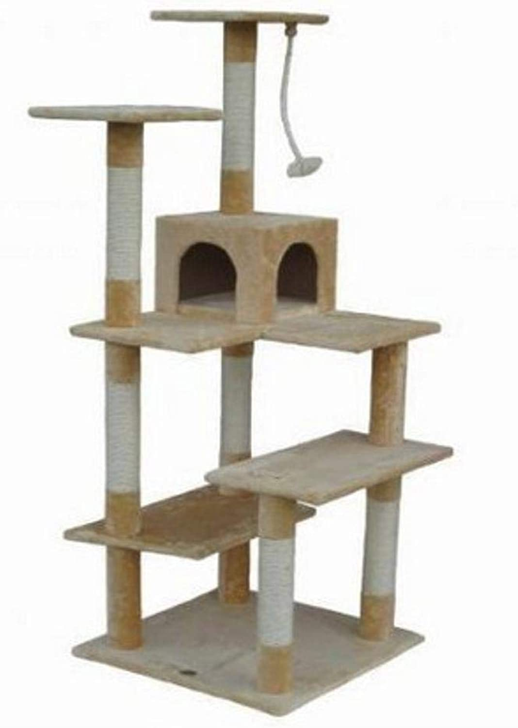 Hexiansheng Cat Climb Trees Multilayer Cat grinding claw toy cat Litter cat cat Scratch Board cat Jumping pet toy 50  60  170cm