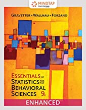 MindTap Psychology, 1 term (6 months) Printed Access Card, Enhanced for Gravetter/Wallnau/Forzano's Essentials of Statistics for the Behavioral Sciences