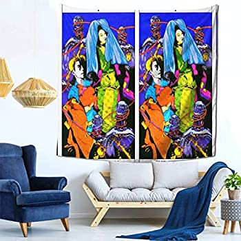 Houtiff Anime & Final & Love and Mystery Tarots by Yoshitaka Amano I The Magi Art Tapestry Handicraft Party Decoration Banner Garland Event Banner and Home Decoration Green