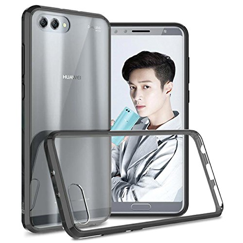 CoverON Hard Slim Fit ClearGuard Series for Huawei Honor View 10 / Honor V10 Case, Clear with Black Trim