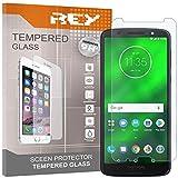 REY Pack 3X Panzerglas Schutzfolie für Motorola Moto G6 Plus, Bildschirmschutzfolie 9H+ Festigkeit, Anti-Kratzen, Anti-Öl, Anti-Bläschen