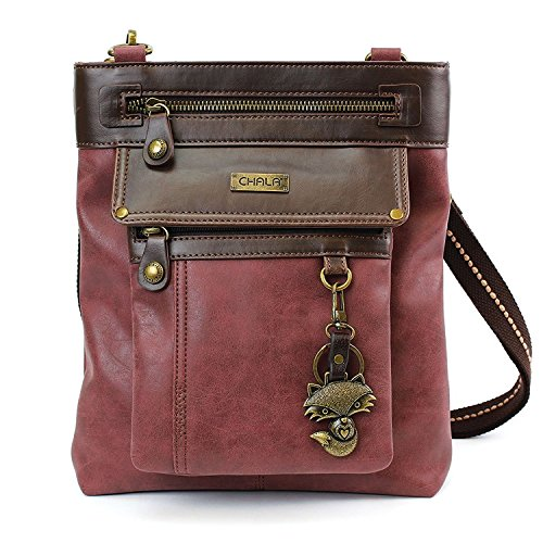 Chala GEMINI Crossbody Canvas Gift Messenger Bag Burgundy - Fox