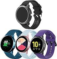 Gransho 時計バンド コンパチブル Galaxy Watch 46mm / Watch 3 45mm / Gear Live バンド, シリカゲルバンド 交換バンド柔らか運動型 (22mm, 4PCS C)