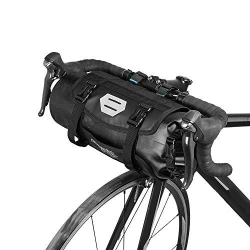 Wasserdicht vorne Fahrrad Tasche, Bike Frontrahmen Lenker Gepäckträger mit Rolle, DRY BAG Top Verschluss 3L-7L verstellbar