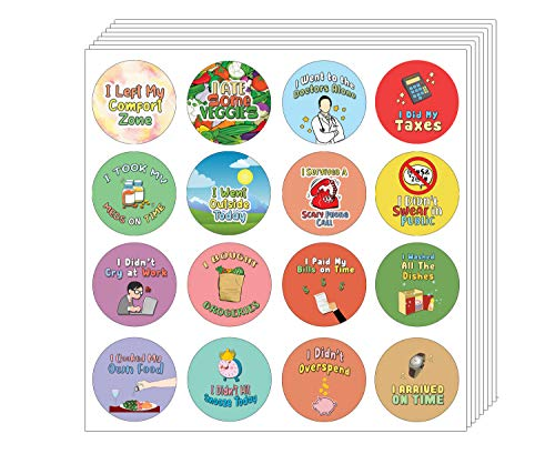 Creanoso Cute Adulting Stickers (20-Sheet) - Premium Quality Gift Ideas for Children, Teens, & Adults for All Occasions - Stocking Stuffers Party Favor & Giveaways