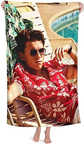 NIUPEE Tom Holland Toalla de playa de microfibra, toalla de baño Spider-Man, suave y Leic, aspecto elegante, microfibra, para las fans femeninas (Tom Holland4)