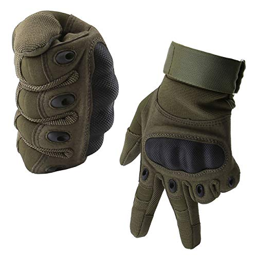 ACBungji Voller Finger Handschuhe Motorradhandschuhe für MTB Mountainbike Motorrad Motocross Quad Paintball Airsoft Security Tactical Militär KTM Fahrrad Rad Herren Damen Touchscreen (Army Grün, M)
