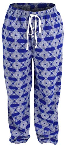 Unique Baby Mens Hanukkah Print Star of David Pajama Pants (M) Blue