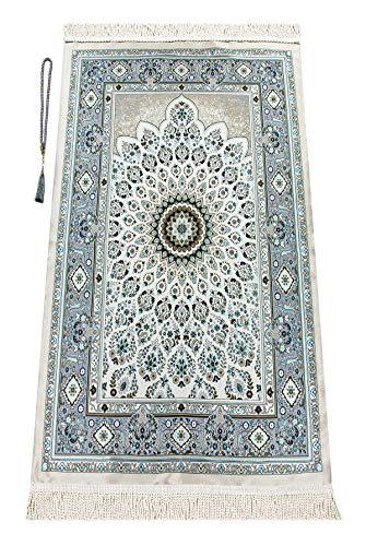 Alfombra de oración Musulmana con los Granos de rezo de Regalos | Janamaz | Sajjadah | Soft islámica Prayer Rug | Regalos islámicos | Alfombra de la oración, de la Turquesa