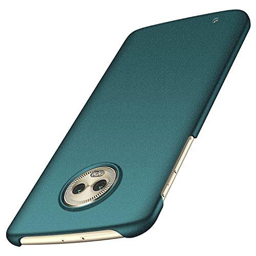 Arkour Moto G6 Hülle, Minimalistisch Ultradünne Leichte Slim Fit Handyhülle mit rutschfest Matte Oberfläche Hard Case für Motorola G6 (Kies Grün)