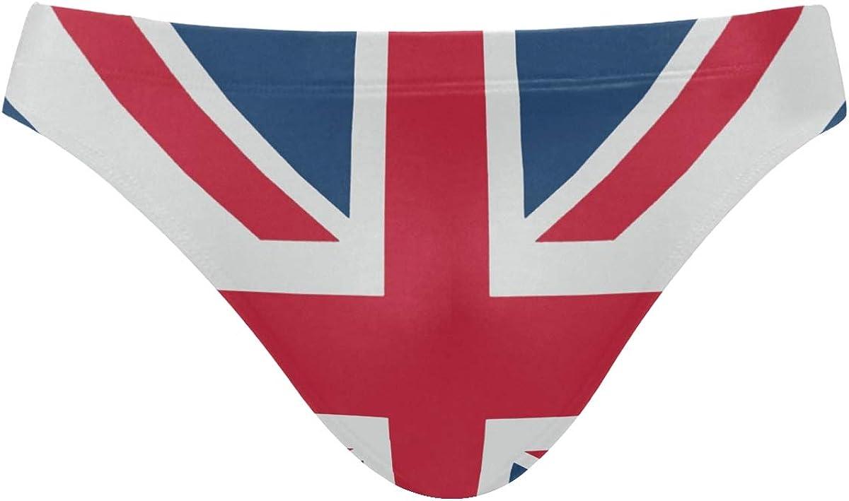 Vintage Union Jack British Flag Retro Mens Swim Trunks Sport Swim Brief Thong Bikini Swimsuit