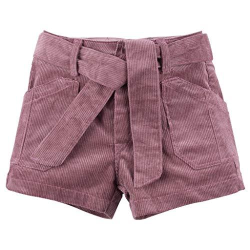 DressLksnf Baby Cord Shorts Kleinkind Einfarbig Einfach Shorts Mädchen Sommer Kinderkleidung