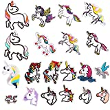 Patch Sticker, Sunshine-Smile 20 Pcs Unicornio Apliques, Parches Ropa Termoadhesivos, Cute DIY Ropa Parches para la camiseta Jeans Ropa Bolsas, Parche de Ropa (Unicorn)
