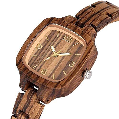 ldl - Reloj de Madera de Las señoras, Cara Digital de cáscara de Shell de Arce Creativo, Reloj Natural Natural, Seguro y no tóxico, con Correa de Madera (Color : Zebraholz)
