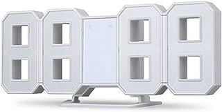 sdfghzsedfgsdfg 3D-nummer LED digitala väckarklockor 24 eller 12-timmars skärm snooze väggklocka dimbar nattlampa bordsklo...