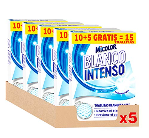 Micolor Toallitas Blanco Intenso 10+5D – Pack 5