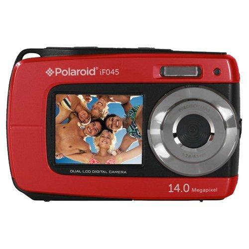 Cámara digital polaroid if045 14mpx doble pantalla sumergible roja