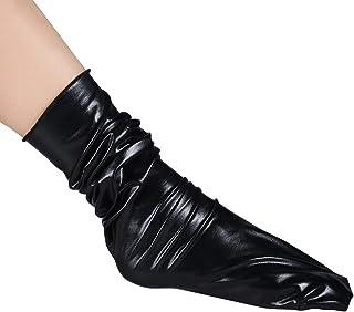 Ssowun, Calcetines Brillantes reflexivos de Moda de la Discoteca Mujeres acrílicos de otoño e Invierno Pila de Calcetines