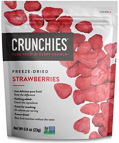 Crunchies Crispy Strawberry All Natural Freeze-Dried Fruits Snack, 1 Ounce (6 Count)