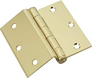 National Hardware N133-306 453 Half-Surface Hinges in Brass, 2 Pack