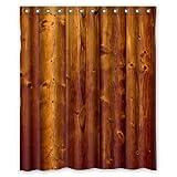 Unique design size 60(W) x72(H) -inch retro Colorful Wood Stripes tenda doccia impermeabile