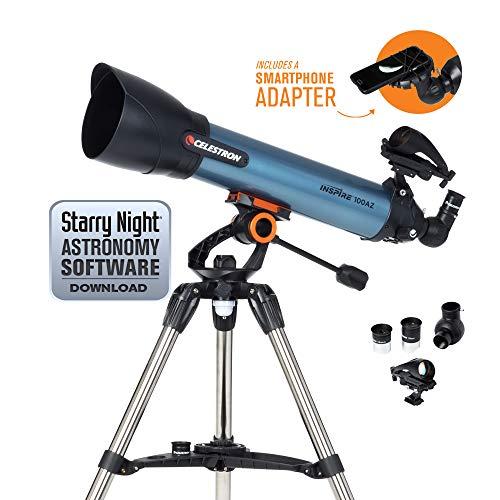 Celestron Inspire - Telescopio astronómico (100 mm de Apertura, 600 mm de...