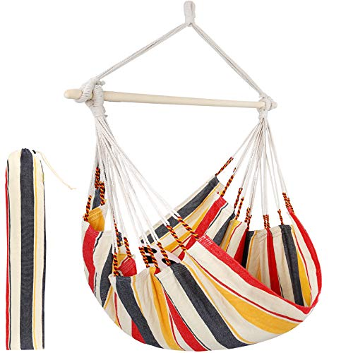 Hammock Chair Swing Seat Patio Chair for Indoor or Outdoor, Large Swinging Seat Chair for Patio, Bedroom, or TRE