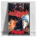 DPFRY Cuadro En Lienzo Kentaro Miura Berserk Japón Anime Retro Cartoon Poster Wall Art Painting Prints Living Home Room Decor Mn65T 40X60Cm Sin Marco