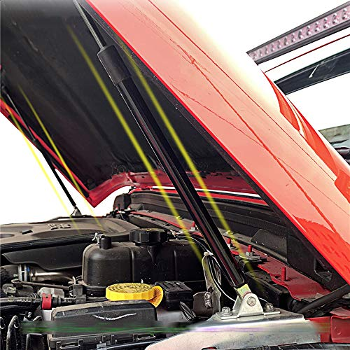 WXQYR 1 Satz Auto Fronthaube Gasliftfedern, Federbeine Hebel Dämpfer Stoßdämpfer Hydraulikhebel Stützstange, für Jeep Wrangler JK 2007-2018