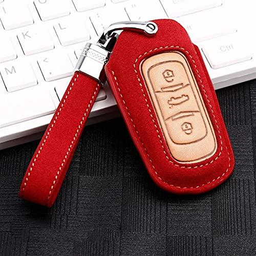 Cubierta de Claves de Coches Clave de Fundas de Cubierta Completa Protección Adecuada para Geely Atlas Boyue NL3 EX7 EMGRAND X7 EMGRAANDX7 SUV GT GC9 Borui Accesorios (Color Name : Red)