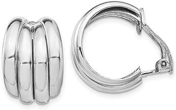 925 Sterling Silver Clip Back Non Pierced On Hoop Earrings Ear Hoops Set Fine Jewelry For Women Gifts For Her
