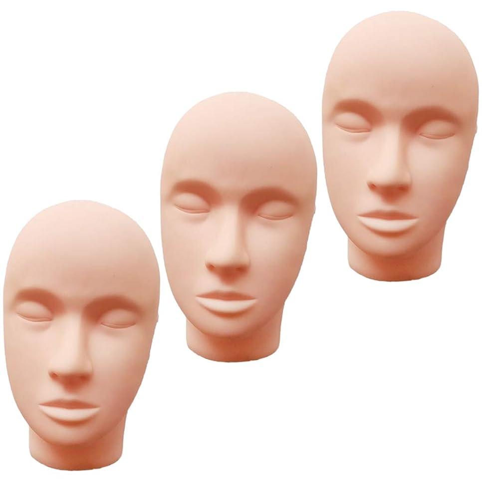 方向原点偶然T TOOYFUL ヘッドマネキン メイク練習用 モデル 化粧 フェイス メイクアップ まつげエクステ 繰り返し利用