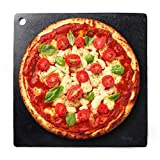 Steel Pizza Baking Stone - 15 Inches Square Low Carbon Steel Sheet - Ultra Conductive 1/4 Inch Thick Baking...