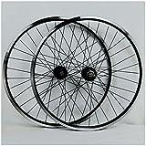 26 Inch Rims & Wheels - KZEE Mountain Bike Wheelset 26 Inch, Double Wall Aluminum Alloy Disc/V-Brake Cycling Bicycle Wheels 32 Hole Rim 7/8/9/10 Cassette Wheels (Color : Black, Size : 26inch)