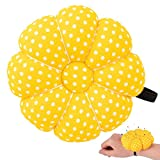 Rolybag Pin Cushions Wrist Pins Cushions with Elastic Strap Pumpkin Needle for Sewing Cushion Pincushions for Needlework or DIY Crafts(Yellow)