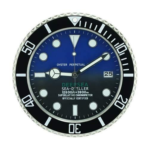 XMBT Relojes domésticos de la Sala de Estar Decorativa de la Pared del Arte del Vintage,Reloj de Pared con números Romanos Reloj de Pared Luminoso,Size:14inch